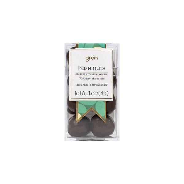 Gron Dark Chocolate-Covered Hazelnuts 100mg