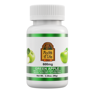 Roots of Life Green Apple CBD Gummies 600mg