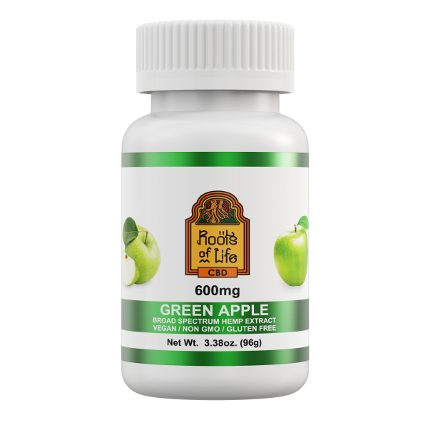 Roots of Life Green Apple CBD Gummies 600mg