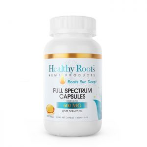 Healthy Roots Soft Gel Full Spectrum CBD Capsules 600mg