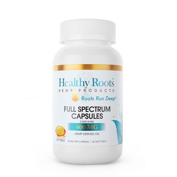 Healthy Roots Soft Gel Full Spectrum CBD Capsules 600mg