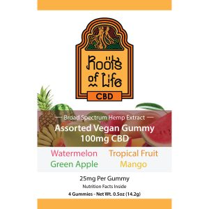 Roots of Life 4 Pack Assorted Gummies 100mg